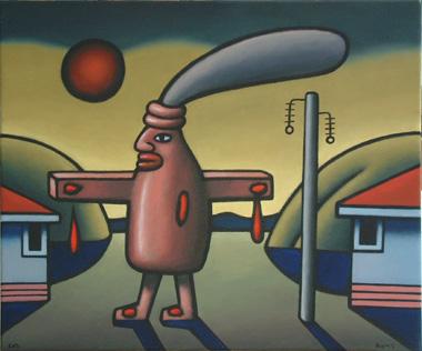 """""""Jesus Bottle"""" by Reg Mombassa"""