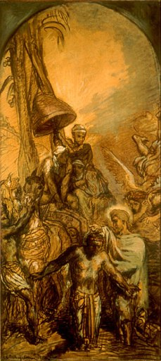 """""""Saint Philip Baptizing the Eunuch of the Queen of Ethiopia"""" by Théodore Chassériau"""