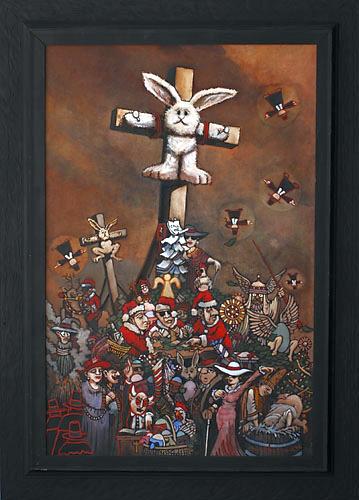 BruceMacDonald-CrucifiedStuffedBunny
