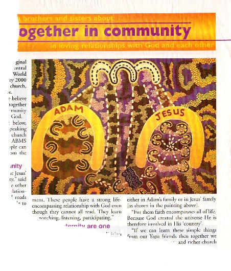 aboriginal art jesus and adam