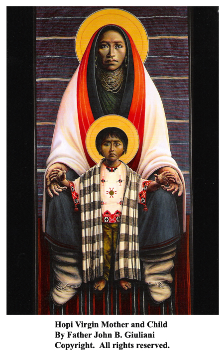 Hopi-Virgin-Mother-and-Child-by-Father-John-Giuliana