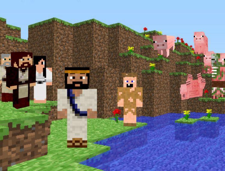 minecraft jesus and the zombie pigs.jpg