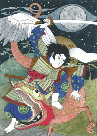 St. Michael the archangel as a samurai