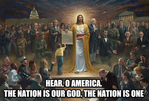 One nation is our god