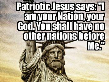 Patriotic jesus - no other nations