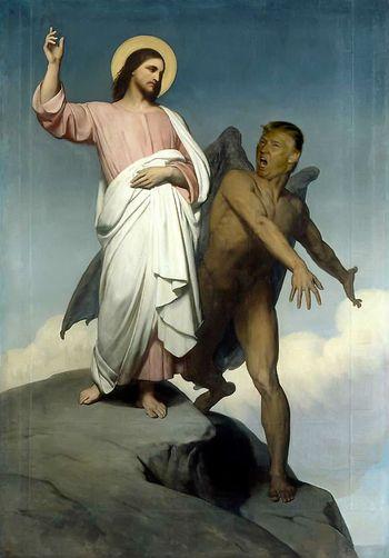 The Trumptation of Christ by matt stone