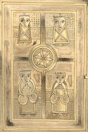 book of deer - the four evangelists