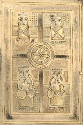book of deer - the four evangelists