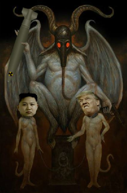 devil trump korea