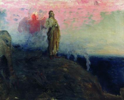 Follow me, Satan (Temptation of Jesus Christ) - Repin Ilya