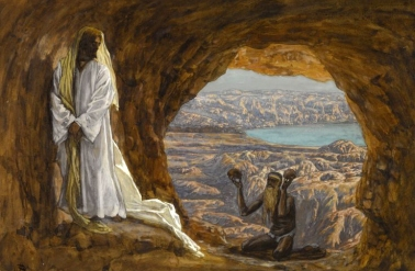 Jesus tempted in the wilderness - James Tissot
