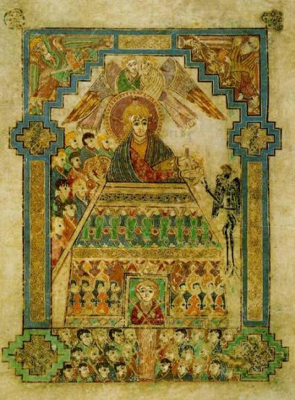 Temptation of Christ - Book of Kells