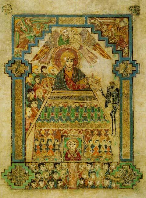 Temptation of Christ - Book of Kells