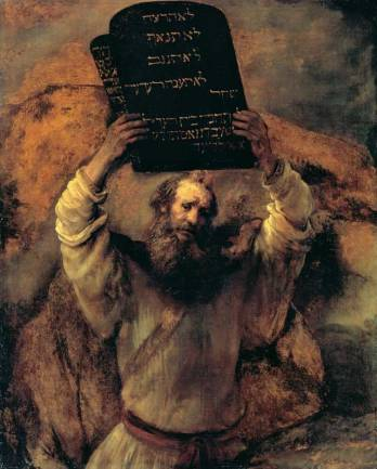 Moses with the Tablets of the Law, Rembrandt, 1659.