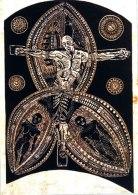 "This Mauri Jesus image by Michel Tuffery is called ""Tianigi""."