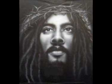 rasta jesus - black and white