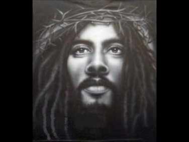 rasta jesus - black and white