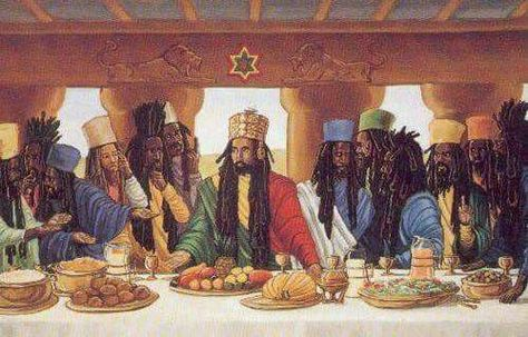rasta jesus - last supper