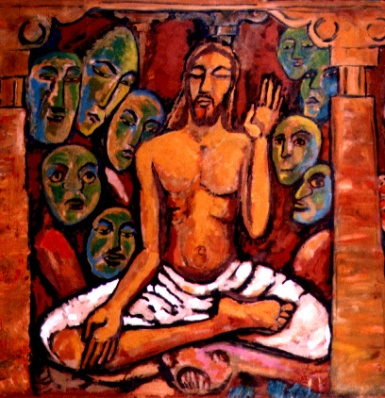 Temptation of jesus - Jyoti Sahi