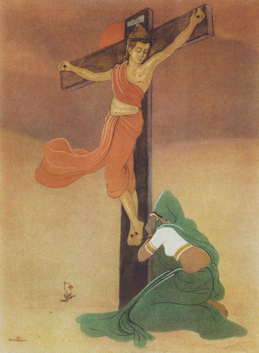 The Crucifixion by Alfred David Thomas - India