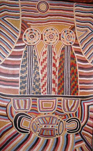 three wise men by aboriginal artist Linda Syddick Napaltjarri 02