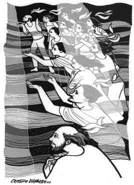 woodcut pentecost 2