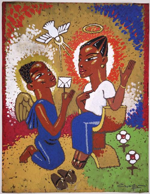 Annunciation by Nigerian artist Paul Woelfel