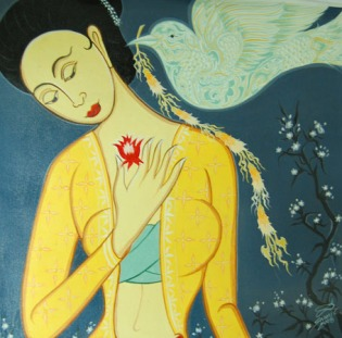 annunication to mary Sawai Chinnawong, thailand