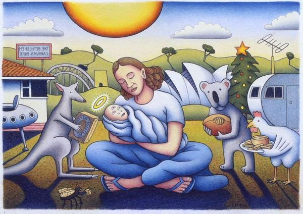 NATIVITY - BIRTH OF AUSTRALIAN JESUS