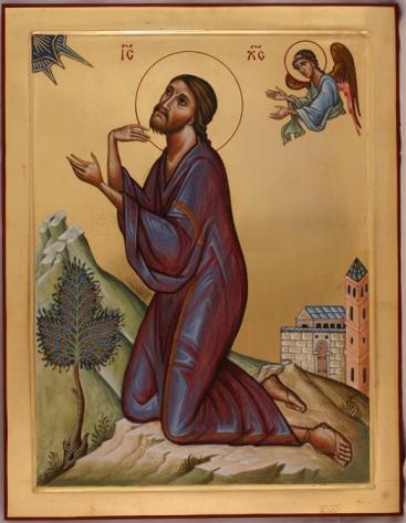 Christ in Gethsemane by Aidan Hart