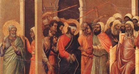 Christ Mocked - Duccio di Buoninsegna