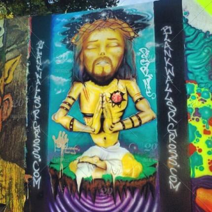 meditating-jesus-graffiti