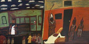 Peter denies Jesus - Edwina Corlette