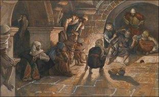 Second denial of St Peter - Tissot